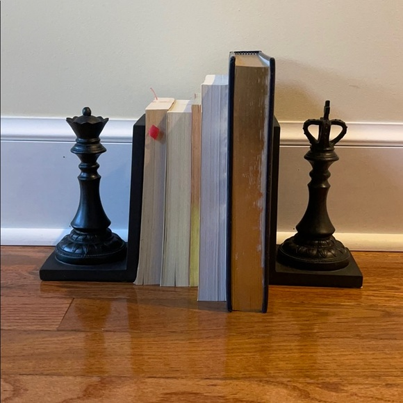 King and Queen Chess Bookends NIB